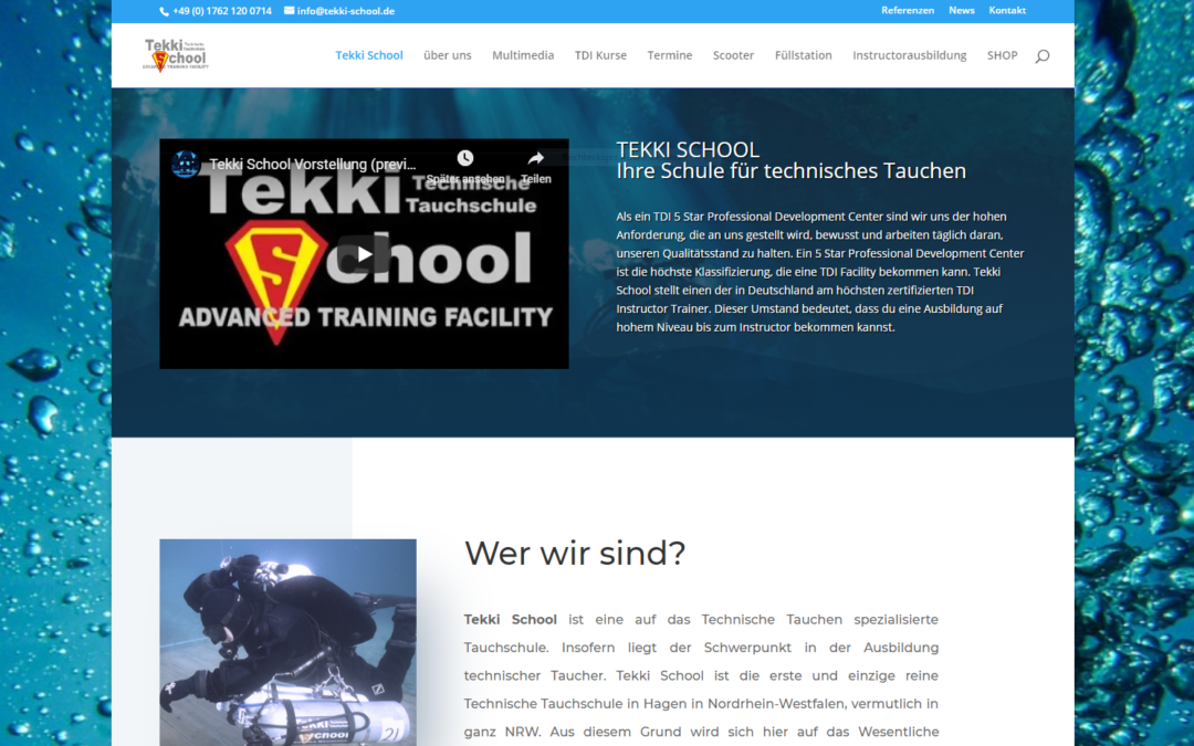 Website im  neuen Design..